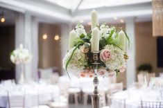 Candelabra centrepiece Hampton Manor Wedding Flowers Passion for Flowers. See more of our floral creations at www.passionforflowers.net