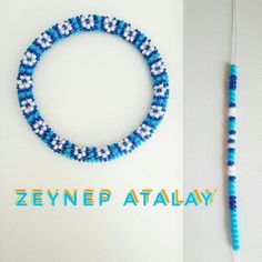 Zeynepatalay Kumboncuk Wristband Six - Diy Crafts Crochet Beaded Bracelets, Beaded Bracelet Patterns, Seed Bead Bracelets, Diamond Bracelets, Seed Beads, Bangles, Bead Crochet Patterns, Bead Crochet Rope, Beading Patterns