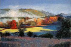 landscape demo, using pastels