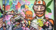 Part of a new by David Choe ( for restaurant in California. David Choe, La Art, Street Artists, Graffiti, California, Painting, Restaurant, Usa, Painting Art
