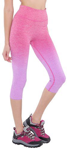 Bonas Women's Ombre Three-quarter Tights Capri Yoga Sport Workout Leggings Pants >>> Find out more about the great item at the image link.