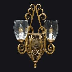 Triarch 29220/2 2 Light Mediterrano Wall Sconce, Burnished Sand  (It's unique but not sure if I really like it)