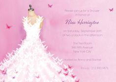Butterfly Dress Invitation | Paper & Posh