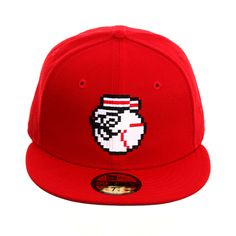 meet 76fcc dbc9e Exclusive New Era 59Fifty Cincinnati Reds Mr Redlegs Pixel Hat - Red,  40.00