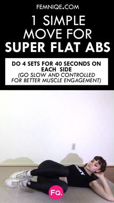 10 Scientifically Proven Hacks To Get Rid of Belly Fat Here's an easy-to-do ab workout anyone can do at home. Add this as a finisher to your ab workout and watch how your whole midsection changes for good. Workout For Flat Stomach, Abs Workout For Women, Belly Fat Workout, Flat Abs, Flat Tummy, Fitness Home, Health Fitness, Fitness Hacks, At Home Workouts