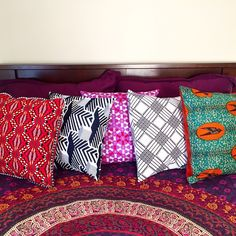 African Print Accent Pillow Cover Throw Pillows With Africa