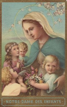 Holy Cards for Children: Blessed Mother