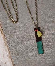 Long modern charm necklace gemstone necklace layering