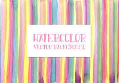 Watercolor Stripes Vector Background Icon Set