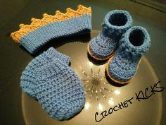 Lil' king infant set Infant, Slippers, Beanie, King, Crochet, Hats, Fashion, Crocheting, Moda