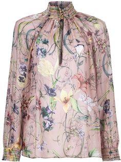 55d97d2f Gucci Floral Print Blouse - Lyst Floral Blouse, Printed Blouse, Gucci  Floral, Business