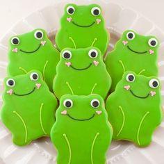 cutie frog cookies....