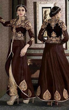 Mesmerizing Chocolate Designer Salwar Suit