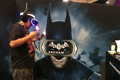 'Batman: Arkham VR' Demo: DC Entertainment's booth in the convention center had a demo for Batman: Arkham VR (from Rocksteady Studios), the first virtual-reality experience that allows players to put on the cape and cowl of the Dark Knight. Comic-Con attendees got to preview the video game before it is released in October.