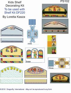 4 Peg Shelf Decorator Sheets