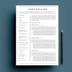 Cover letter for resume - Resume Template Package For Word The 'Rosie' – Cover letter for resume Resume Design Template, Cv Template, Resume Templates, Templates Free, Cover Letter For Resume, Cover Letter Template, Letter Templates, Resume Template Australia, Free Resume Examples