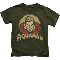 DC/Aqua Circle Short Sleeve Juvenile T-Shirt in Military