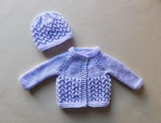 Baby Knitting Patterns Ravelry Little Melika Medium Premature Baby Set Knitting pattern by made by marianna Baby Knitting Free, Baby Cardigan Knitting Pattern Free, Baby Sweater Patterns, Knitted Baby Cardigan, Knit Baby Sweaters, Baby Clothes Patterns, Baby Doll Clothes, Baby Patterns, Lace Cardigan