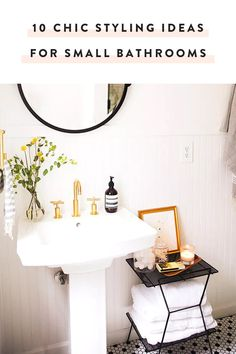 Bathrooms are required to hold a lot of little things, which means we're required to come up with creative space-saving ideas. Take these ten chic and easy ideas that will make your bathroom a thing of beauty and function. — via @PureWow