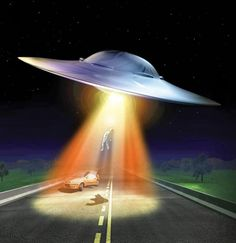 Abducted. #ufo #spacecraft #art http://jgfollansbee.com