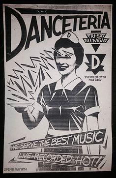 Danceteria flyer, New York City