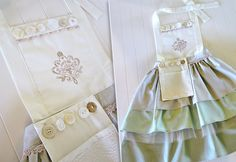 Three Tier Ombre Apron with Shabby Chic Style | Sew4Home