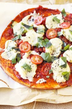 Vegan Pizza Margherita | Crazy Vegan Kitchen  for everything but, specifically, edits here go with cheese recipe --->