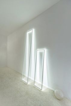 LED aluminium floor lamp FRAME ILLUSION by Inarchi