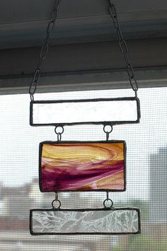 Stained glass hanging by bugsandbones on Etsy, $20.00