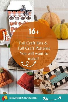 16+ Awesome Fall Craft Kits And Craft Patterns To Make - Dear Creatives