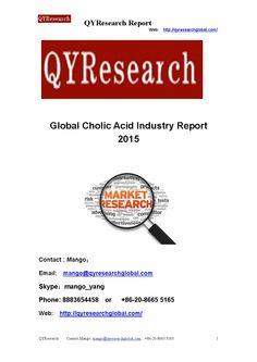 Global cholic acid industry report 2015