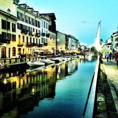 Zona Navigli nel Milano, Lombardia