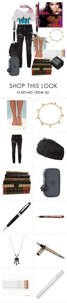 """Esmeraldas daughter"" by loveanimalsandmusic18 ❤ liked on Polyvore featuring LULUS, Bling Jewelry, Dsquared2, John Wind, Kipling, John Lewis, Betsey Johnson, Tibaldi and NARS Cosmetics"