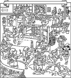 detailed christmas coloring pages bing images - Detailed Christmas Coloring Pages