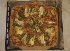 Pizza trzy sery z kurkami Vegetable Pizza, Quiche, Vegan, Vegetables, Breakfast, Food, Morning Coffee, Essen, Quiches