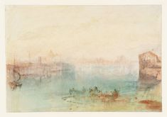 Joseph Mallord William Turner (1775‑1851)  - Venice: The Western End of the Giudecca Canal, from near the Convent of San Biagio e Cataldo  From Grand Canal and Giudecca Sketchbook  (1840), Watercolour on paper