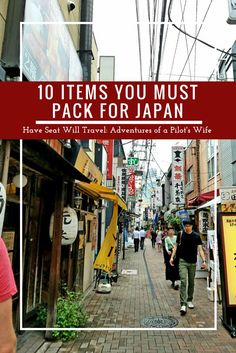10 Items You Must Pack for Japan Japan is one of my most favorite travel memories! Pack these things on your next trip to Japan and you'll be glad you did! Tokyo Japan Travel, Japan Travel Guide, Go To Japan, Visit Japan, Asia Travel, Japan Trip, Work Travel, Kyoto, Pilot Wife
