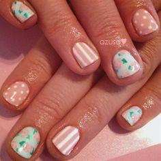 pink roses❤ by azusa - Nail Art Gallery nailartgallery.nailsmag.com by Nails Magazine www.nailsmag.com #nailart