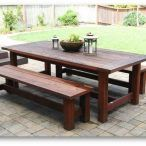 Dining Room. Outdoor dining table with benches Home Decor - Siahe.com