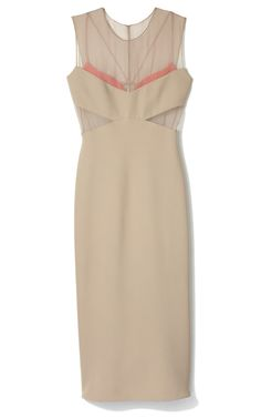 Sophisticated and slightly sexy,  Narciso Rodriguez Sable Dress