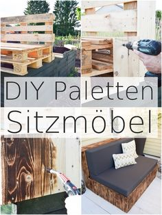 DIY aus Paletten: Lounge und Sitzmöbel für Terrasse und Garten. Sitzmöbel einfach selbstgemacht aus Europaletten