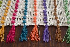 Colcha calada en punto pompón tejida a crochet