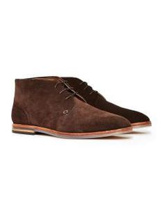 mens HUDSON Houghton 3 Suede Chukka Brown