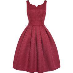 'Felicia' Wine Swing Dress ($60) ❤ liked on Polyvore featuring dresses, burgundy, circle skirt, sleeveless dress, burgundy dress, burgundy skater skirt and sleeveless swing dress