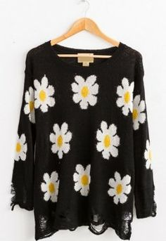 Daisy Ripped Sweater $26
