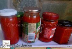 Bolognai szósz télire Canning Pickles, Bologna, Ketchup, Salsa, Soup, Jar, Recipes, Recipies, Salsa Music