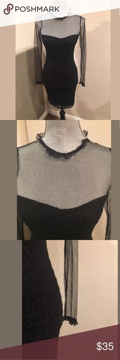 Zara Sweetheart Bodycon Mesh Black Dress Size S Gorgeous dress in excellent condition size S Zara Dresses Mini