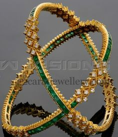 Jewellery Designs: Classy Bangles by Vaibhav Jewellers. these would be awesome as a ring!!