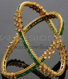 Jewellery Designs: Classy Bangles by Vaibhav Jewellers