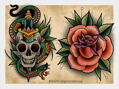 New designs, both available and I have some time next week if anyone would like one or both of them tattooed. darinblanktattoos@gmail.com